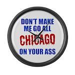 Chicago Baseball Large Wall Clock