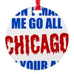 Chicago Baseball Round Ornament