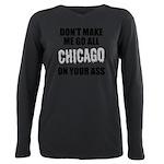 Chicago Baseball Plus Size Long Sleeve Tee