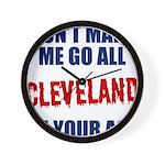 Cleveland Baseball Wall Clock