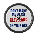 Cleveland Baseball Large Wall Clock