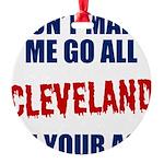 Cleveland Baseball Round Ornament