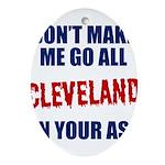 Cleveland Baseball Oval Ornament