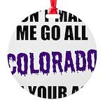 Colorado Baseball Round Ornament