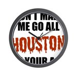 Houston Baseball Wall Clock