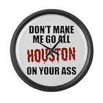Houston Baseball Large Wall Clock