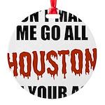 Houston Baseball Round Ornament
