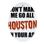 Houston Baseball Oval Ornament