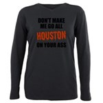 Houston Baseball Plus Size Long Sleeve Tee