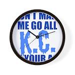 Kansas City Baseball Wall Clock