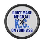 Kansas City Baseball Large Wall Clock