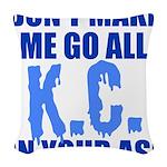 Kansas City Baseball Woven Throw Pillow