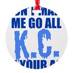 Kansas City Baseball Round Ornament