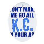 Kansas City Baseball Oval Ornament