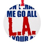 Los Angeles Baseball Round Ornament