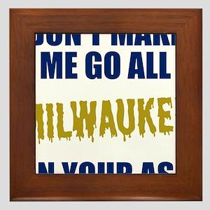 Milwaukee Baseball Framed Tile