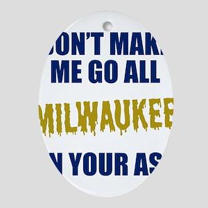 Milwaukee Baseball Oval Ornament