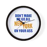 New York Baseball Wall Clock