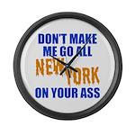 New York Baseball Large Wall Clock