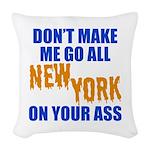 New York Baseball Woven Throw Pillow
