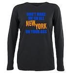 New York Baseball Plus Size Long Sleeve Tee