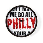Philadelphia Baseball Wall Clock