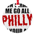 Philadelphia Baseball Round Ornament