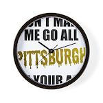 Pittsburgh Baseball Wall Clock