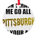 Pittsburgh Baseball Round Ornament