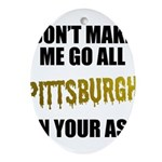 Pittsburgh Baseball Oval Ornament