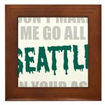 Seattle Baseball Framed Tile