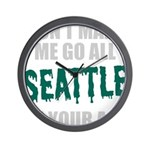 Seattle Baseball Wall Clock