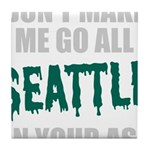 Seattle Baseball Tile Coaster
