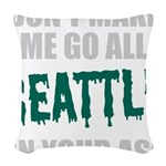 Seattle Baseball Woven Throw Pillow
