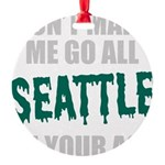 Seattle Baseball Round Ornament