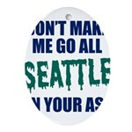 Seattle Baseball Oval Ornament