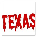 Texas Baseball Square Car Magnet 3
