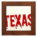 Texas Baseball Framed Tile