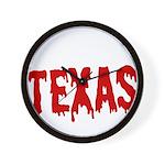 Texas Baseball Wall Clock