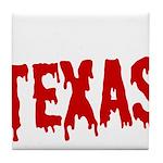 Texas Baseball Tile Coaster