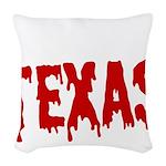 Texas Baseball Woven Throw Pillow
