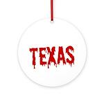 Texas Baseball Round Ornament