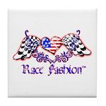 Race Fashion.com US Heart Tile Coaster