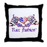 Race Fashion.com US Heart Throw Pillow
