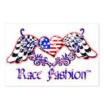 Race Fashion.com US Heart Postcards (Package of 8)