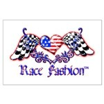 Race Fashion.com US Heart Large Poster