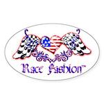 Race Fashion.com US Heart Oval Sticker