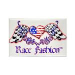 Race Fashion.com US Heart Rectangle Magnet