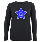 3-star-phil Plus Size Long Sleeve Tee