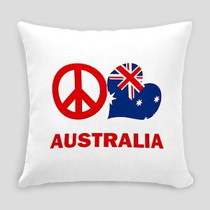Peace Love Australia Everyday Pillow